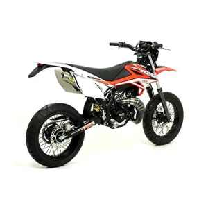 Pot ARROW Ligne ALL ROAD 2T Cartouche Titane BETA RR 50cc Enduro / Super motard (à PARTIR de 2012) Passage Haut a Droite!