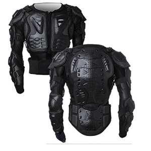 Armure Complète du Corps Veste de Moto Blouson de Motard Gilet Protection de Colonne Poitrine Épaule Noir XL