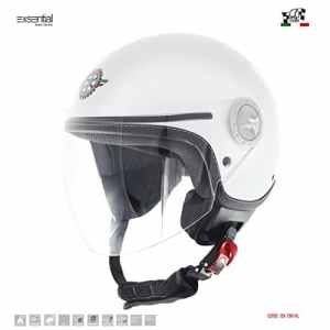 exsential Casque Demi Jet ancienne 730VL Blanc brillant Helmet Helme Casque capacete Scooter Moto l