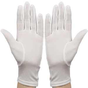 Membrane – Gants de soie blanche hydratants adulte soin pour Eczéma taille unique – Unisexe