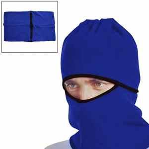 sourcingmap® Coupe vent bleu Masque visage Capuchon protège cou Couvercle pour vélo moto sport