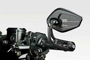 Yamaha T-Max 2017–Kit miroirs 'Revenge' s–Rétroviseurs en aluminium de facile Installation–Noir mat–Accessoires de Pretto moto–100% Made in Italy