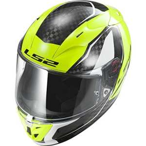 103233254XL – LS2 FF323.32 Arrow C Fury Motorcycle Helmet XL Carbon Hi-Vis Yellow
