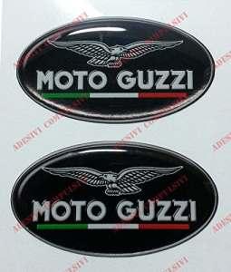 Emblème Logo Decal moto guzzi, avec drapeau Italie, couple Stickers, Résine Effet 3d. Pour réservoir ou casque