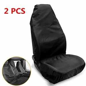 Housse de sièges pour sièges auto (2pcs), Minleer Ultra Léger étanche Avant Couvre Siège Nylon Amovible Universelle Convient Protecteur de Siège Véhicule
