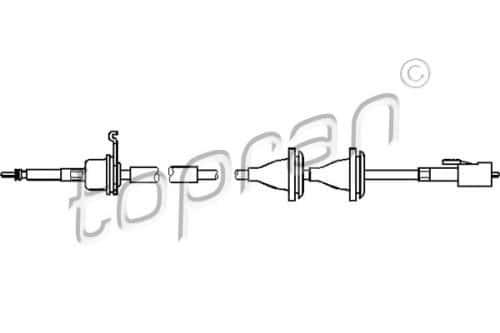 Topran câble de tachymètre