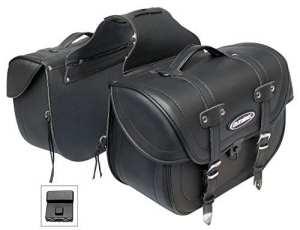Tek-Oxyde de Zirconium-Deluxe-Sacoche en cuir pour moto Cruiser Selle sacs, sacs de voyage