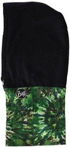BUFF HOODIE Foulard multifonctionnel avec capot fleece WATERFALLS / CRU taille unique Vert – Casabon/Black