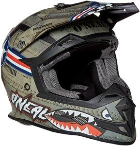 Casque Motocross Oneal 2017 5Series Wingman Metal Blanc (S , Noir)