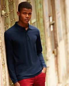 Fruit of the Loom Premium Polo Long Sleeve Shirt mediano rouge