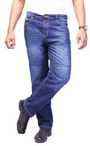 HB Dandy Diamir Aramide doublé Coupe droite Moto Jeans. 5004. – Bleu – 30 W/30 L