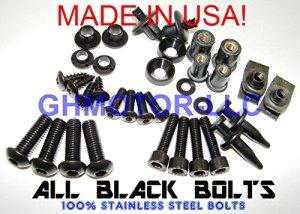 19901991199219931994199519961997JT Sprockets complet Noir Carénages Boulons kit