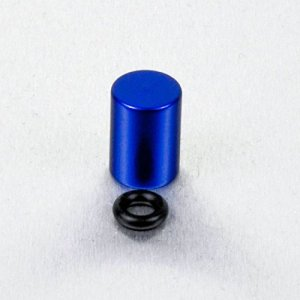 Couvre vis de purge en Aluminium 7mm Pack x 3 Bleu