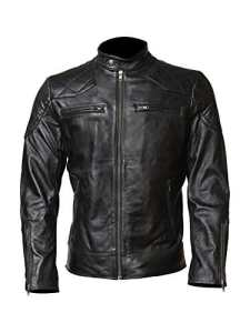 Lederjacke Makers – Blouson – Homme – Noir – XXXX-Large