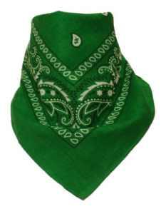 Lot de 6 Bandana avec motif Paisley original en vert