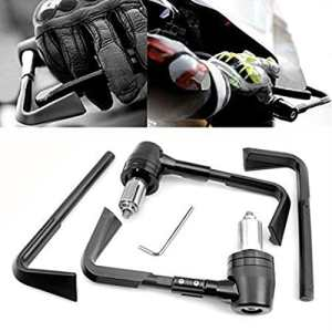 Pair Universel Protection de la Moto Levier de Frein Embrayage 7/8 «22mm Protège-mains pour Moto Guidon Protecteur noir