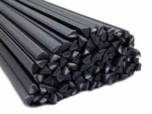 Plastique baguettes de soudure ASA Gris foncé 4mm Triangulaire 25 Barres