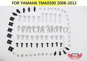 VITCIK Kits de boulons pour moto Yamaha TMAX500 2008 2009 2010 2011 2012 TMAX 500 08 09 10 11 12 attaches aluminium CNC (Argent)