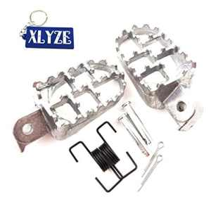 xlyze estriberas française en aluminium Repose-pieds Repose-Pieds Argent pour PIT DIRT moto yamaha pW 5080PW50PW80TW200