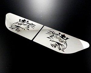 2x Gryphon Wing plaques pour Scania R en acier inoxydable poli Décorations de droite et de gauche