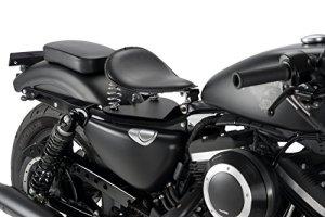Customaccess SI0002N Selle pour le Passager de Harley Davidson Sportster 883/1200, Noir