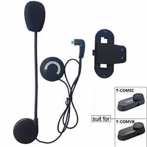 FreedConn Microphone Casque Cable dur Casque et clip Accessoire pour T-COMVB et T-COMSC Series Casque de moto Interphone Bluetooth Interphone moto