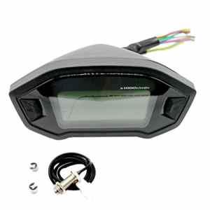 Sharplace Odomètre Universel Moto LCD Digital Compteur Vitesse Tachymetre 12 V