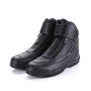 Bottes de moto véritable vache en cuir imperméable à l'eau anti-dérapant design de mode moto bottes de course moto touring chaussures d'équitation 43