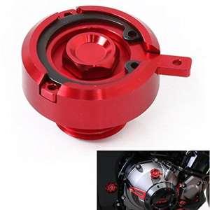 Bouchon de vidange d'huile de moteur pour moto en CNC M20 x 2,5, pour Yamaha MT-09, FZ-09 modèles 2013 2014 2015 2016, Ducati Monster, Kawasaki Z800, Z1000, TMAX 500/530 (Red)