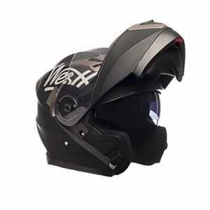 Westt® Torque · Casque modulaire de moto noir mat · Comprend des lunettes de soleil (double visière) · ECE certifié · comprend sac · idéal pour scooter moto chopper · Urban Motorcycle Motorcycle Urban Biker