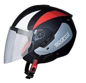 BHR 85135Casque Moto, Noir/Rouge Mat Taille S