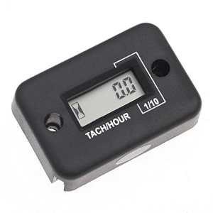 TOOGOO(R) Compteur d'heures numerique LCD pour le Moteur A essence, Moto de course 0.1 / 99999Hrs (Noir)