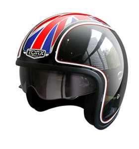 TORX Casque Moto Harry Flag UK, Taille XS