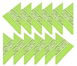 BOOLAVARD Coton, 1er 6 ou 12 Pack Bandanas avec motif Paisley original | Couleur au choix (12 Vert)