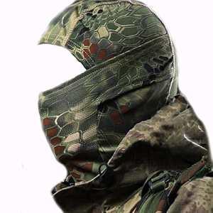 Cagoule Airsoft Militaire Vert Cagoule camouflage pour Airsoft Chasse ou Deguisement (Vert)
