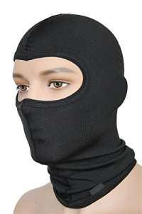 emmitou® thermique cagoule (coton ou microfibres) Masque de ski moto Masque cagoule–(fabriqué en Italie), Mixte, M