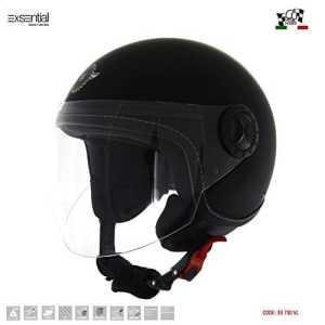 exsential Casque Demi Jet ancienne 730VL Noir mat Helmet Helme Casque capacete Scooter Moto XL