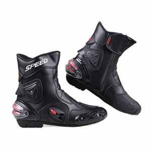 LKN Cheville équipement de Protection Bottes de Moto Chaussures pour d'équitation Racing Rouge