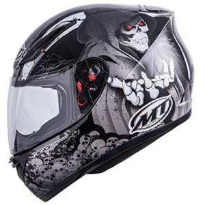 MT Revenge Reaper casque de moto–Noir/Gris–Extra Large