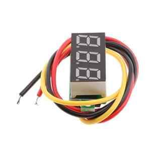 perfk Mini LED Numérique 0.28 inch Voltmètre Outil de Testeur De Tension Meter – Rouge