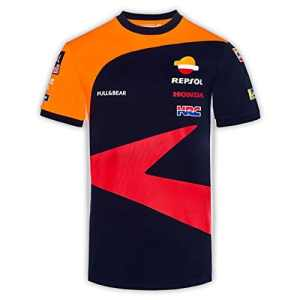 Pritelli 1838501/M Honda Repsol Moto GP Teamwear Réplique Panel T-Shirt Officiel 2018, Bleu