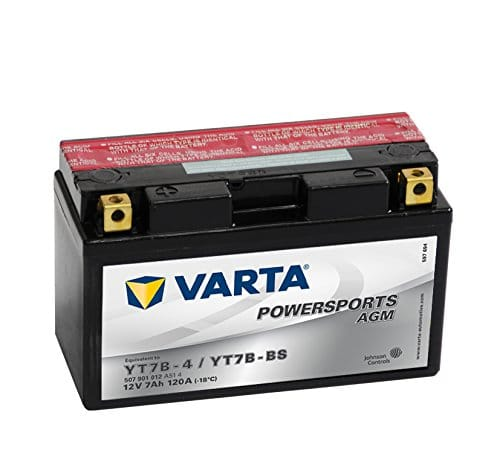 Varta Batterie de moto Powersports AGM 50701–YT7B-BS