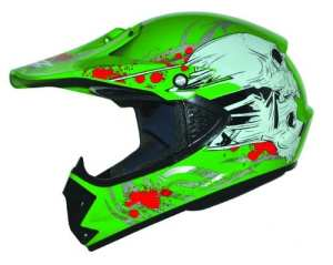 ATO-Helme Kids Pro Enduro Casque de BMX/cross pour enfant Vert