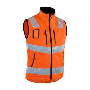 blåkläder Workwear Hi-Vis Gilet softshell, orange, 67-30492517-5300-4XL
