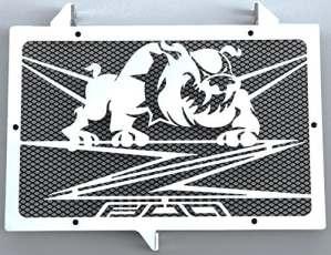 cache radiateur / grille de radiateur Kawasaki Z800 2012>16 design «Bulldog»+ grillage anti gravillon noir
