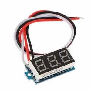 FLAMEER Mini Véhicules Voltmetre D'affichage Numerique Panneau LED Tension Continue