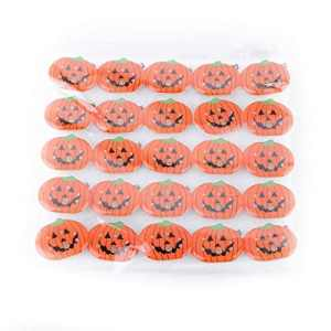 Isuper Voyant Bleu Clignotant et Feux Rouges de Citrouille de Halloween Party Broche Accessoires pour Les Enfants (Smiley Citrouille)