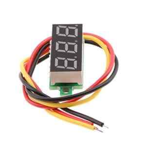 perfk Mini LED Numérique 0.28 inch Voltmètre Outil de Testeur De Tension Meter – Bleu