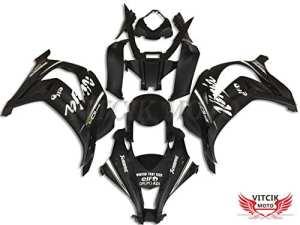 VITCIK (Kits de Carénage fixation Kawasaki ZX-10R ZX10R Ninja 2016 2017 ZX-10R ZX10R 16 17) Moule pour injection de plastique ABS Parties cycle de motos complètes Pièces détachées de Cadres du marché des pièces détachées Accessoires(Noir) A001