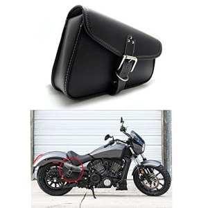 1 PCS Moto Sacoches Cavalières Et En PU Cuir Sac à Outils Latéral Imperméable à l'eau Latéral Gauche De Sac à Dos De Moto De Selle